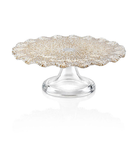 SPECIAL CLEAR & GOLD CAKE STAND (Small)