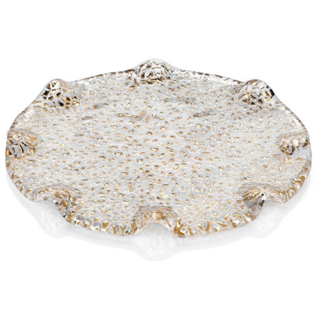 SPECIAL CLEAR & GOLD DESSERT PLATE