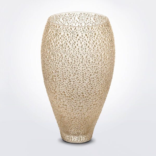 Special golden glass vase product photo.