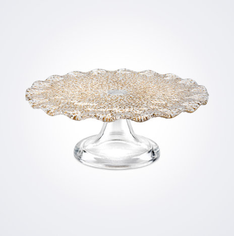 Special Clear & Gold Cake Stand (Medium)