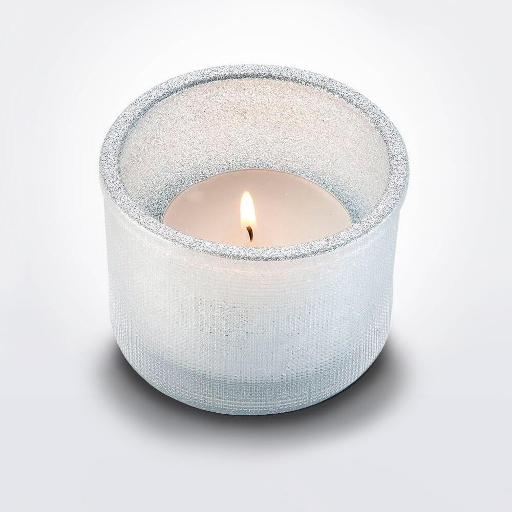 1c7c6a7d36 White Glitter Tea Light Holder | Maison Numen