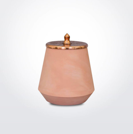 PINK CERAMIC CANISTER