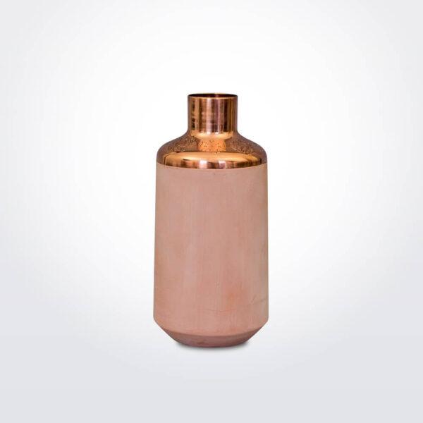 Pink ceramic vase.