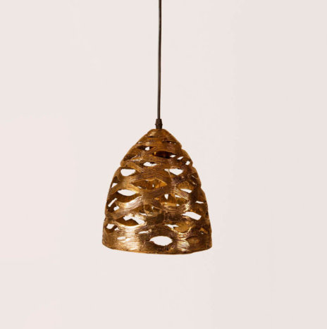 LOTUS POD BRASS LAMP
