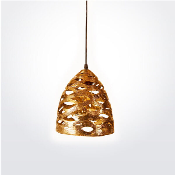 Lotus pod brass lamp.
