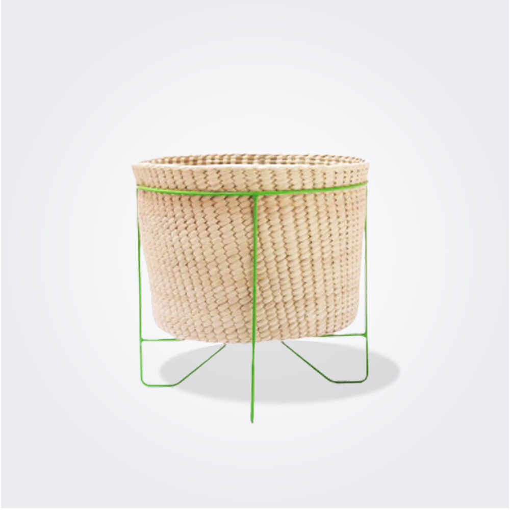 PALM-LEAF-BASKET-W-GREEN-STAND-Small-1