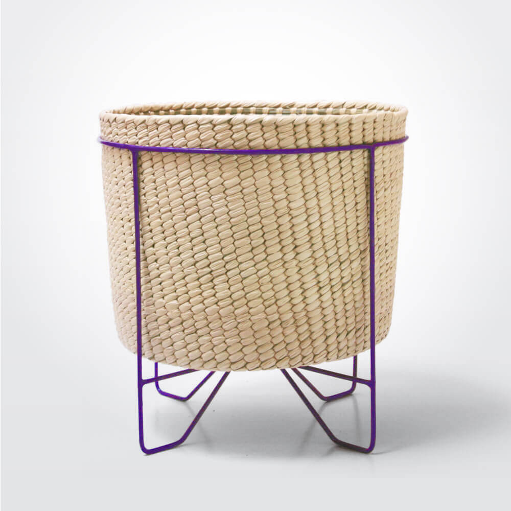 Palm-leaf-basket-w-purple-stand-large