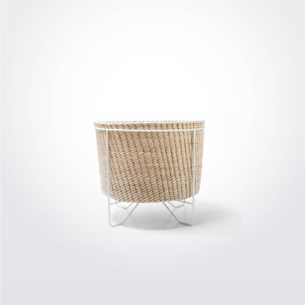 Palm-leaf-basket-w-white-stand-small