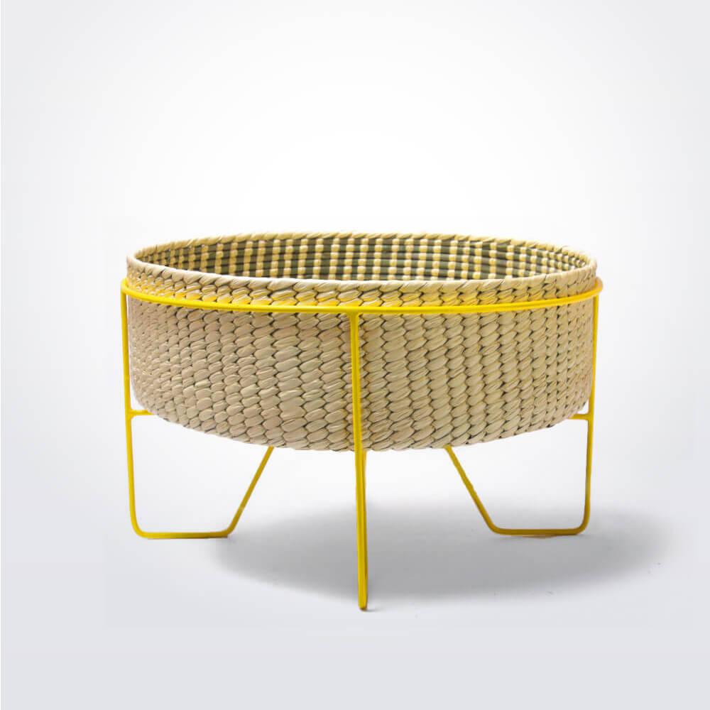 Palm-leaf-basket-w-yellow-stand-medium