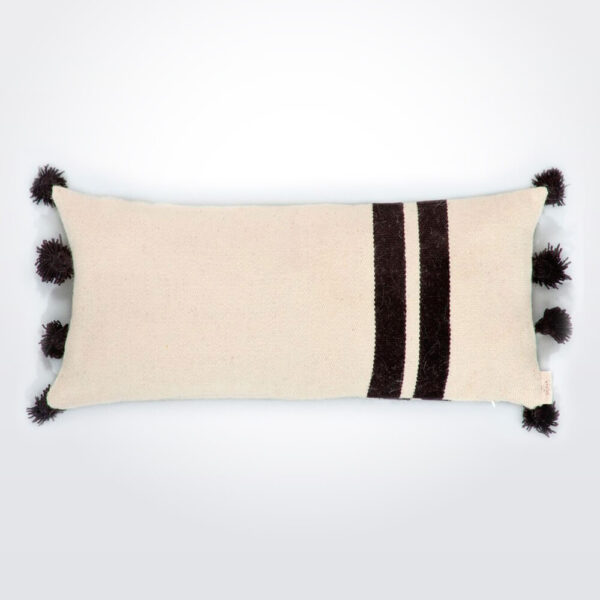 Paralleli wool pillow cover.