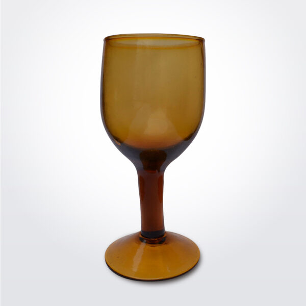 Amber wine glass set.