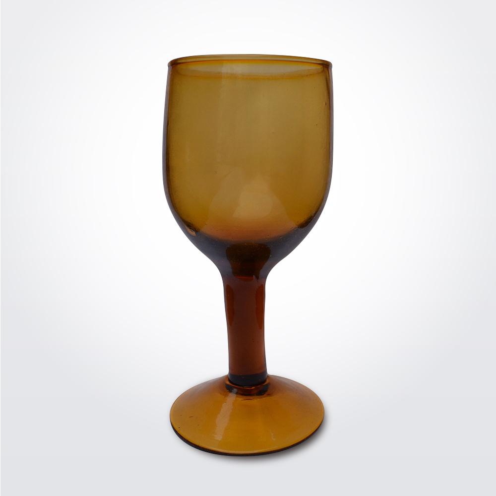 Amber-wine-glass-set