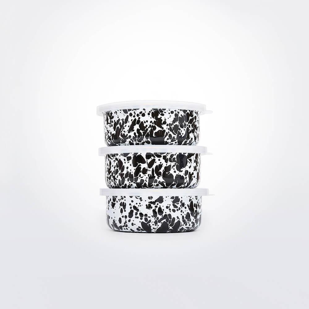Black-&-white-enamel-storage-set