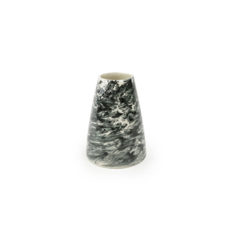 Black & White Water Marble Vase (Small)