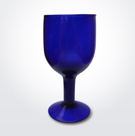 BLUE WINE GLASS SET