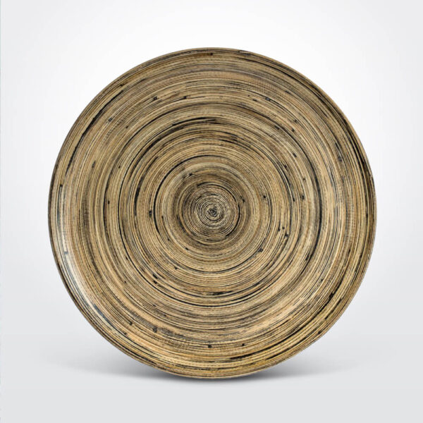 Bamboo round board product photo.