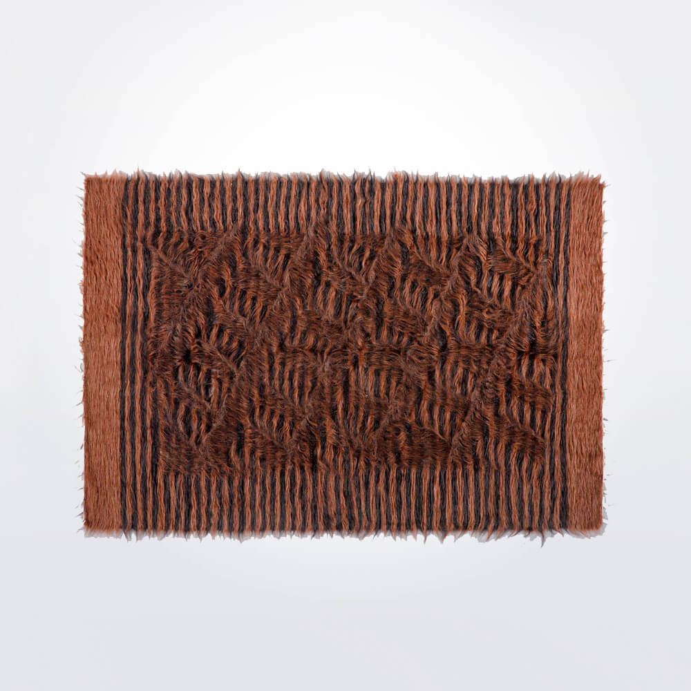 striped-Brown-and-black-wool-rug