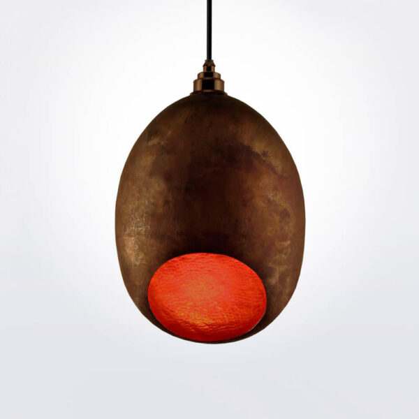 Cocoon copper pendant lamp.