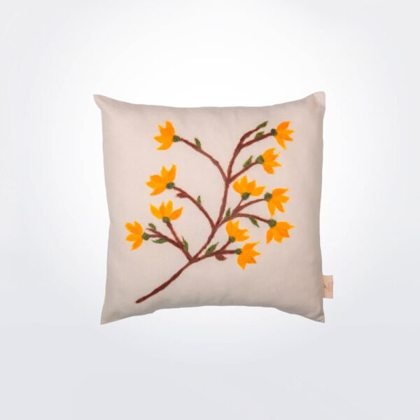 Flower pillow cover.