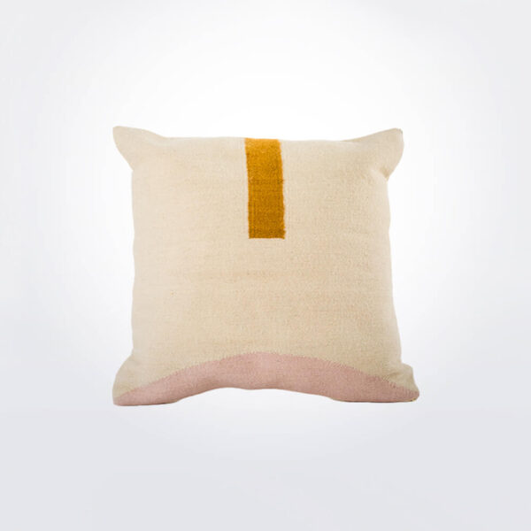 Geometric wool pillow cover.