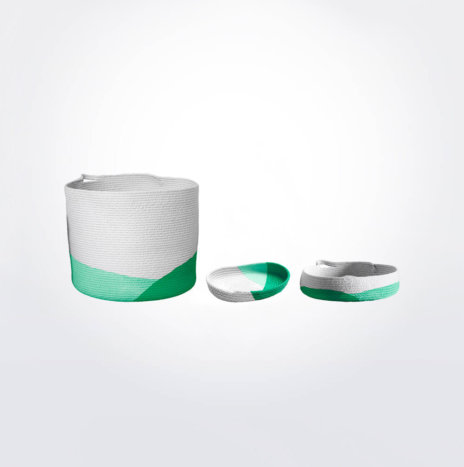 MINT GREEN BUCKET & TRAYS SET