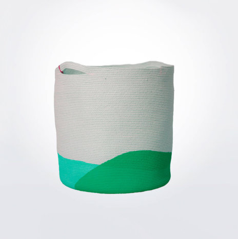 MINT GREEN LAUNDRY BASKET