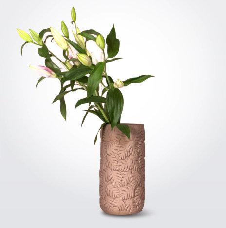 Mulberry Clay Vase