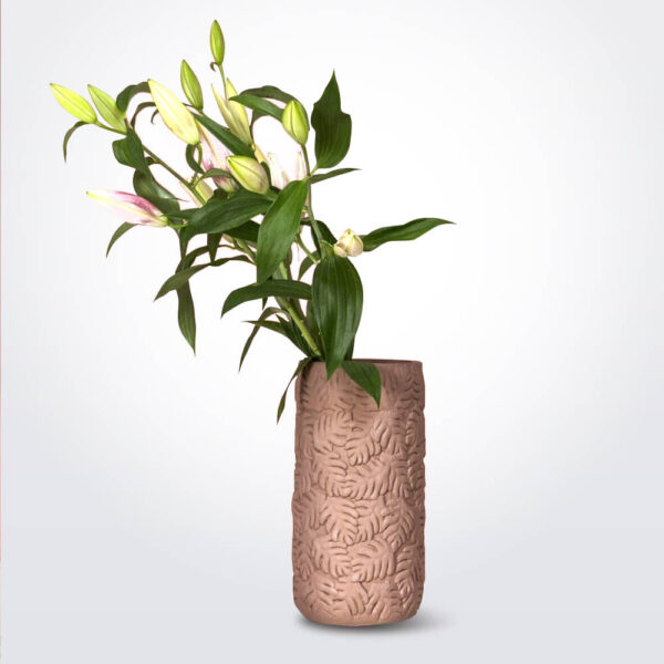 Mulberry Clay Vase.