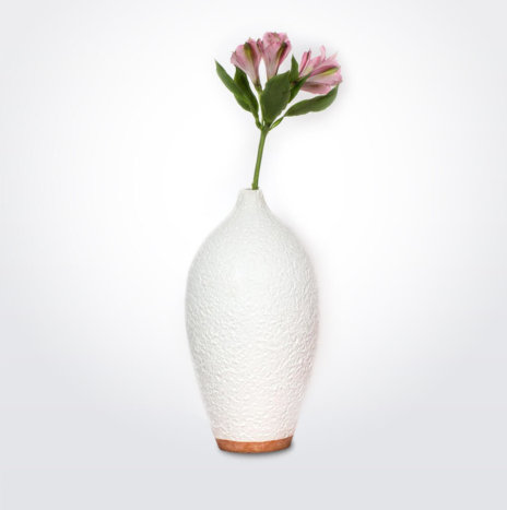 White Earthenware Vase