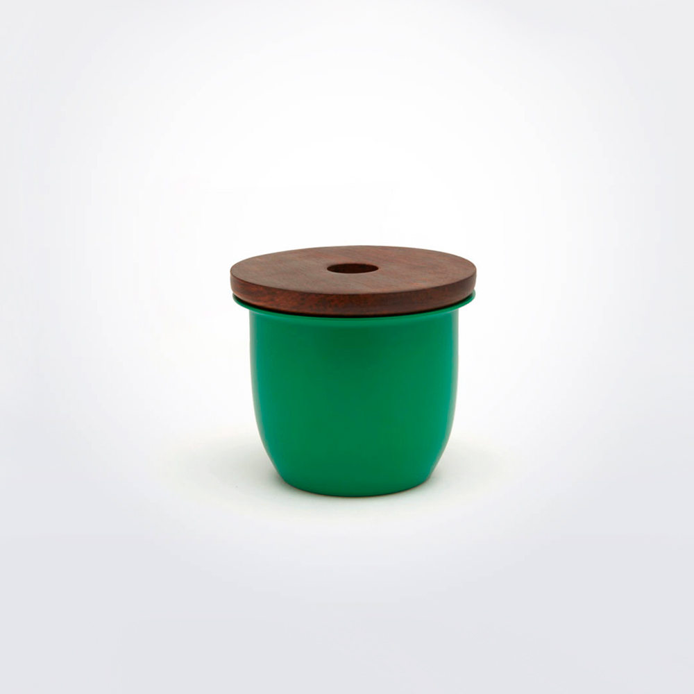 Green-metal-wooden-container