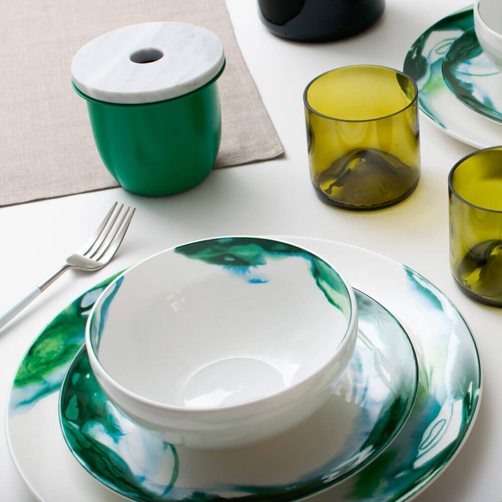 Green-white-water-marble-dinner-plate-3