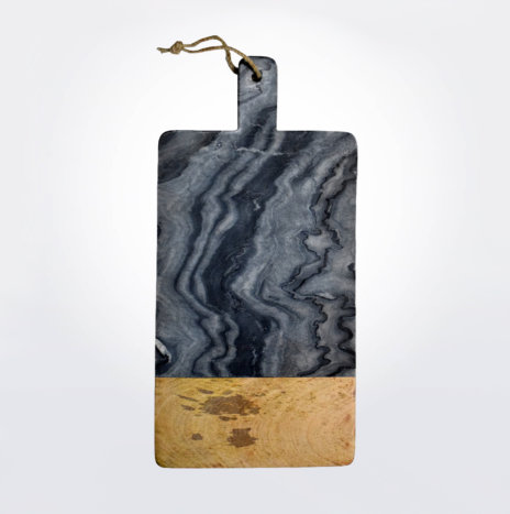Gray Marble & Wood Board