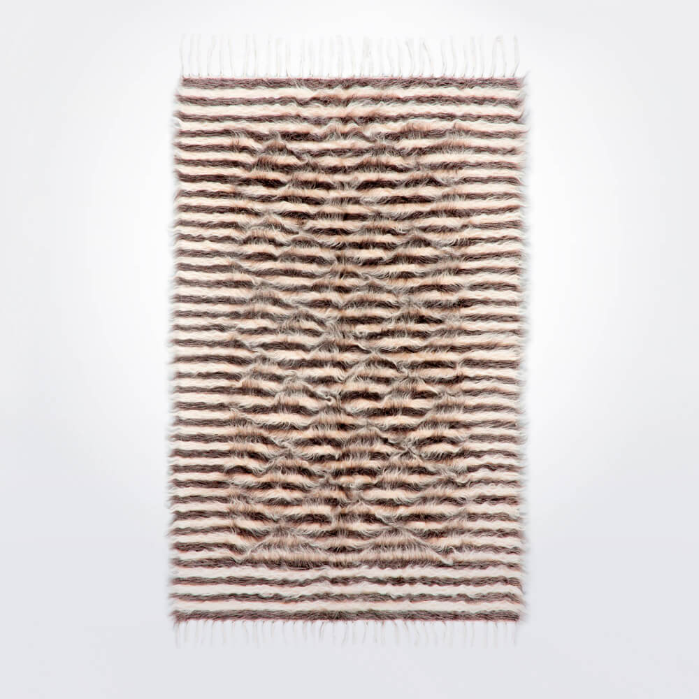 striped-Natural-and–gray-wool-rug-1