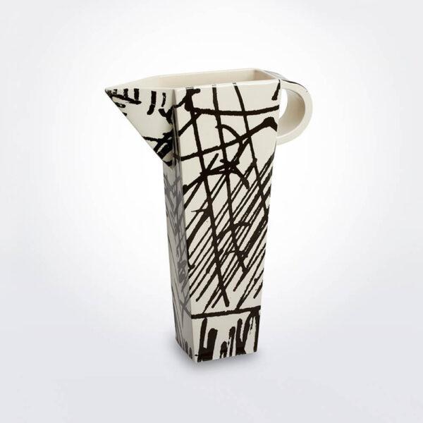 White & black conceptual vase product photo.
