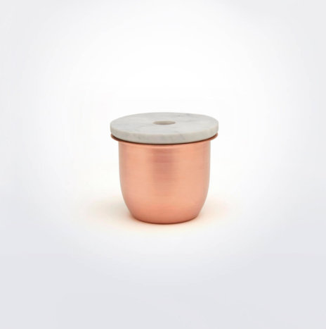 Copper Metal And Marble Container