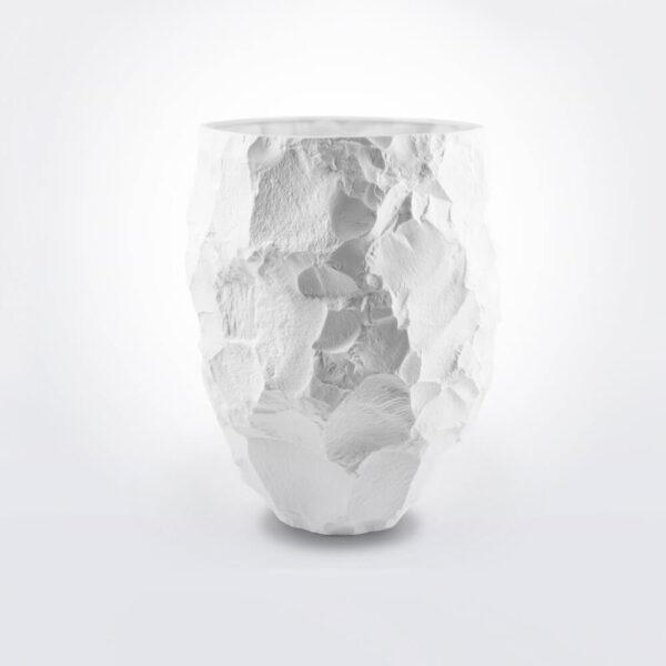 Crockery white vase.