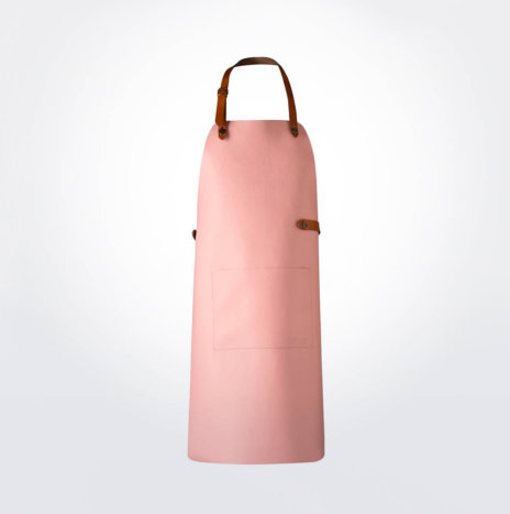 PINK LEATHER APRON