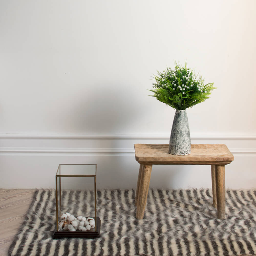 Natural-and-gray-striped-wool-rug