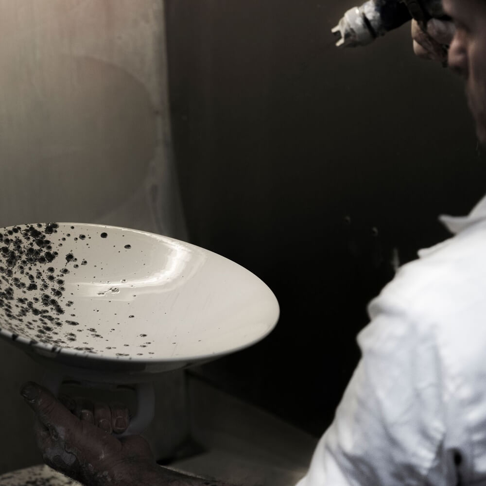 Black-white-water-marble-dinner-plate-2
