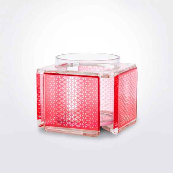 Delta clear vase product picture.