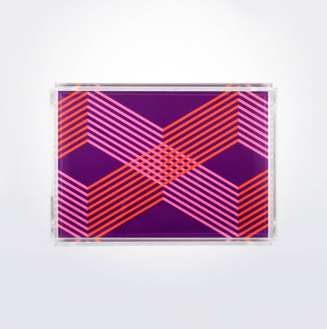 Geometric Rectangular Tray