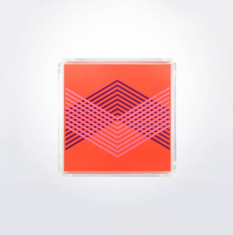 Geometric Square Tray