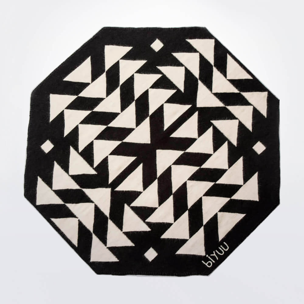 Black-and-white-wool-rug
