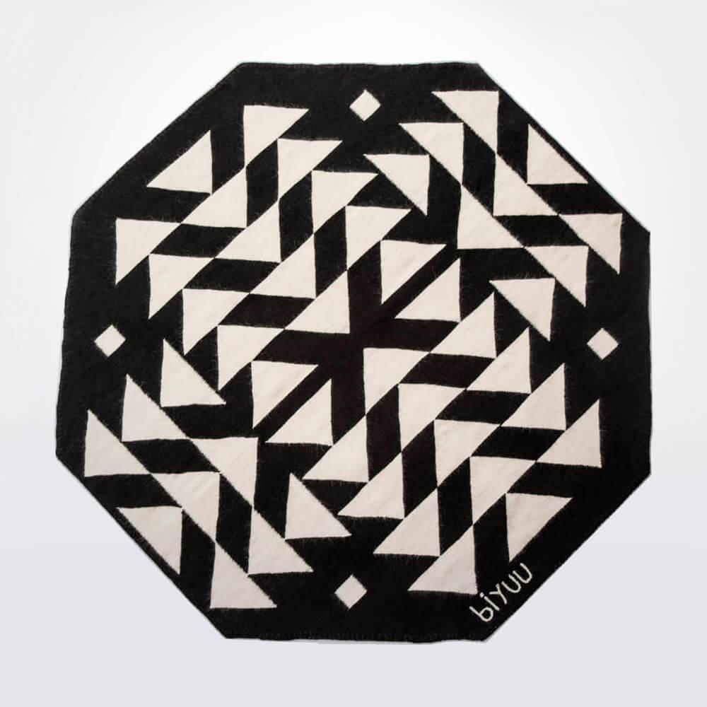 Black-and-white-wool-rug