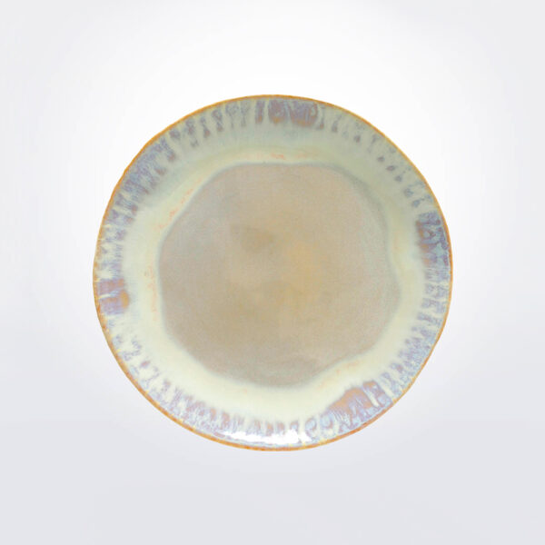 Brisa salad plate with grey background.