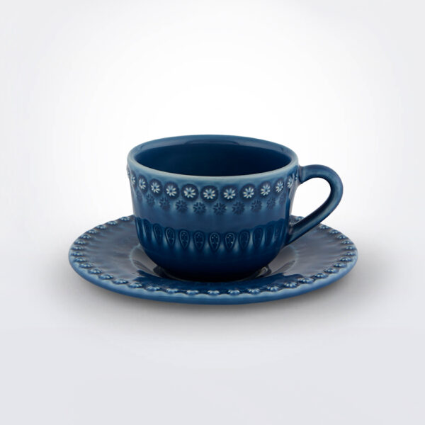 Fantasy tea cup and saucer product picture.