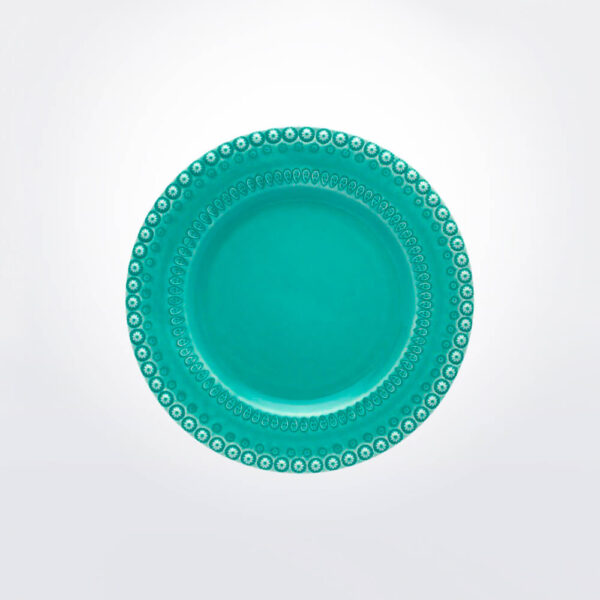 Fantasy dinner plate with grey background.