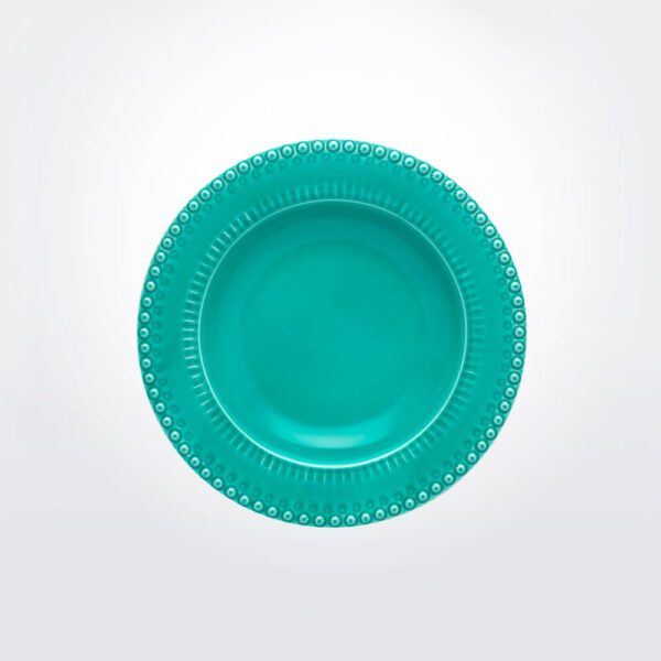Fantasy pasta bowl with grey background.