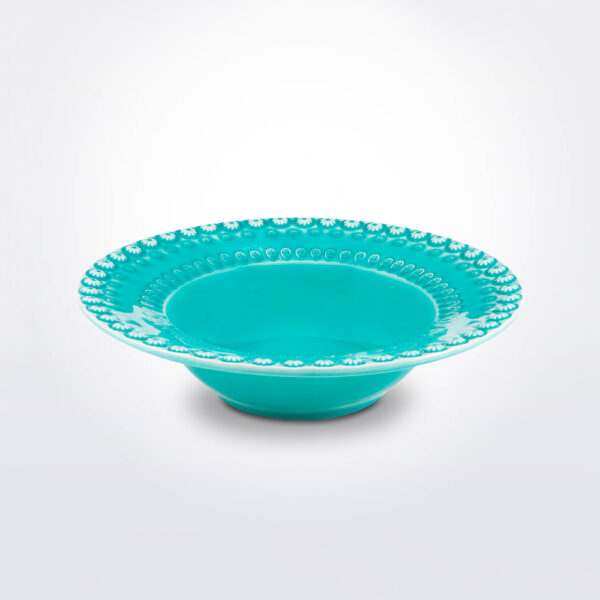 Fantasy salad bowl with grey background.