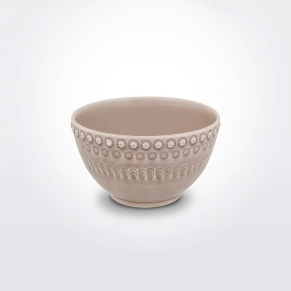 Fantasy soup bowl with grey background.
